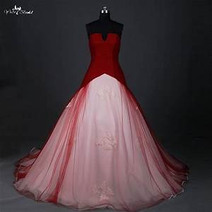 RSW884 Red Wedding Dress Ball Gown Small Open V Neck Cheap ...