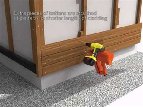how to fit shiplap cladding mets 228 wood thermowood horizontal cladding installation