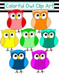 Colorful Owl Clip Art