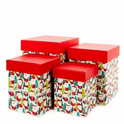Christmas Gift Boxes Fun Pack Santas Card