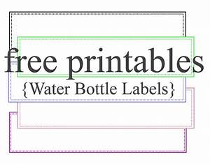 Water bottle labels free printables party ideas for Bottled water label template