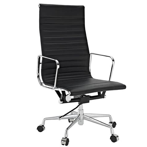 white office chair amazon amazon com lexmod ribbed high back office chair in white