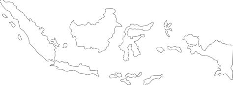 indonesia map vector sketch coloring page