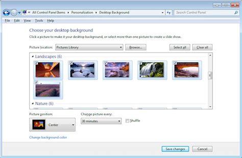 change the desktop background wallpaper on windows