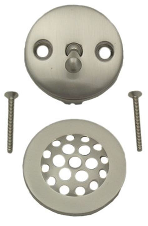 moen brushed nickel  hole tub trip lever overflow plate