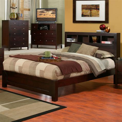 king bed with bookcase headboard solana cal king platform bed with bookcase headboard