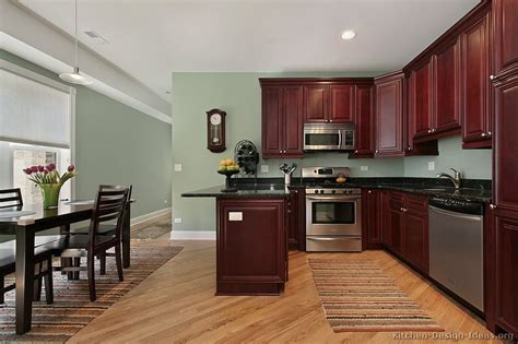 kitchen wall colors with cherry cabinets kitchen of the day this small kitchen features 9619