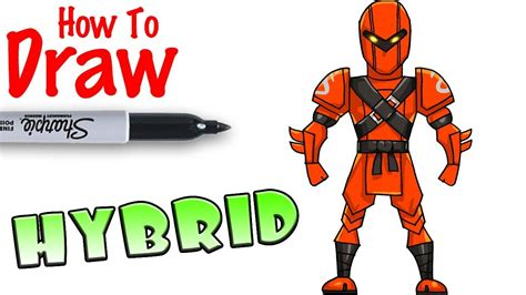 Check back daily for skins for sale today, free skin, skin names & any skin! How to Draw Hybrid   Fortnite - YouTube