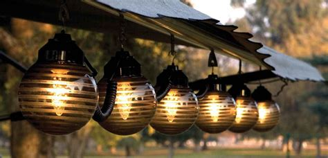 hanging globe lights outdoors patio lighting options ways to light up your patio