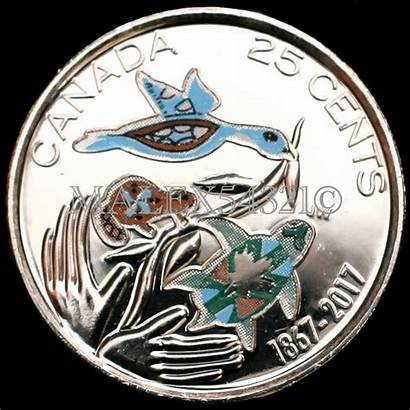 Cents Canada 1867 Hope Future Coloured Roll