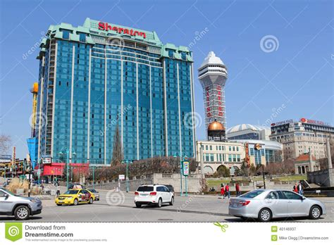 Hotels And A Casino In Niagara Falls Editorial Photography