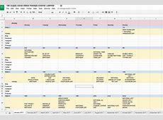 Bill Calendar Template Printable and calendar spreadsheet