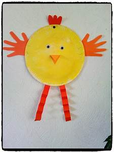 Bricolage De Paques : nos poussins en assiette en carton pinterest arts ~ Melissatoandfro.com Idées de Décoration