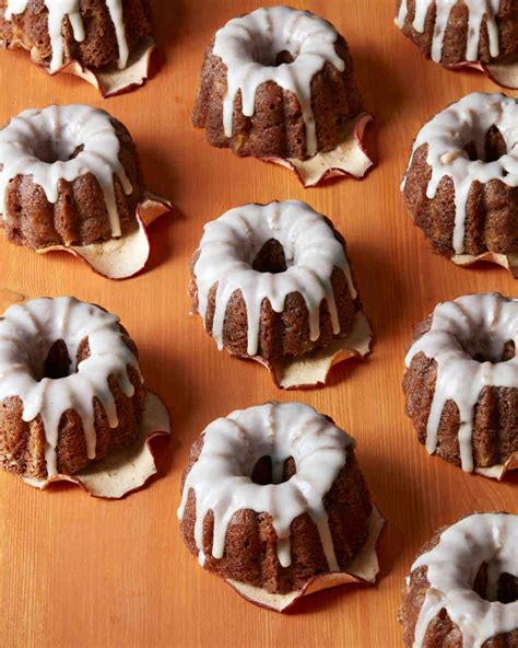 Individual Apple Bundt Cakes