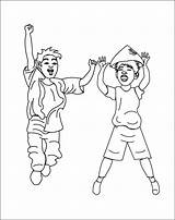 Coloring Pages Children Trampoline Jump Template Sketch Index sketch template