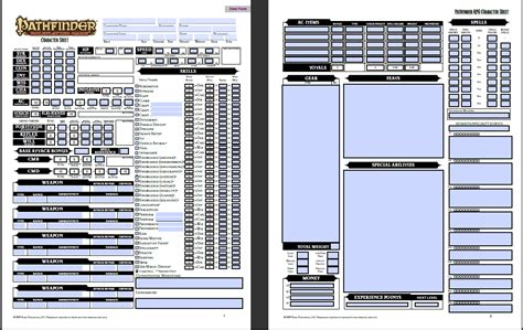 Pathfinder Background Generator Pathfinder Character Sheet Fotolip