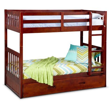 39993 furniture bunk bed ranger bunk bed with trundle merlot