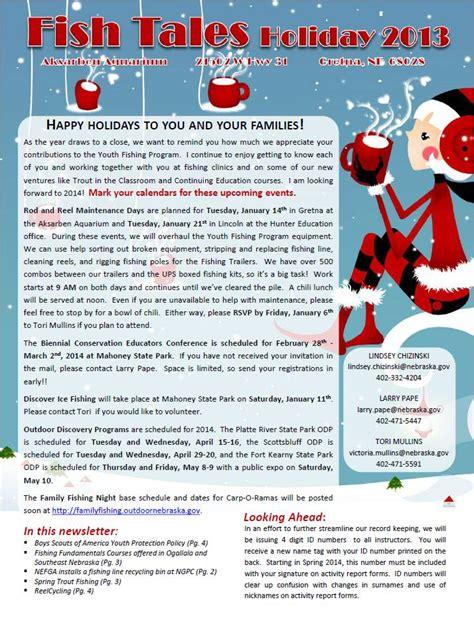 holiday newsletter 2013 youth fishing instructors newsletter nebraskaland magazine