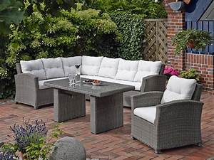 dreams4home lounge quotsidneyquot gartenmobel mit polster inkl With garten planen mit lounge tisch balkon