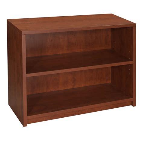 Used 2 Shelf 30 Inch Laminate Bookcase, Cherry National