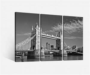 London Skyline Schwarz Weiß : leinwand 3 tlg tower bridge london schwarz wei stadt skyline bilder holz 9h051 leinwandbilder ~ Watch28wear.com Haus und Dekorationen
