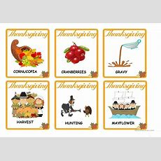 Thanksgiving  Vocabulary Flash Cards Worksheet  Free Esl Printable Worksheets Made By Teachers