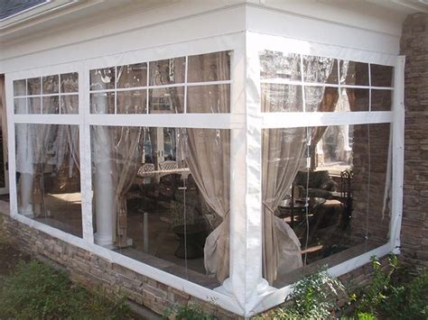 Clear Plastic Patio Walls - acrylic panels for screened porch colors
