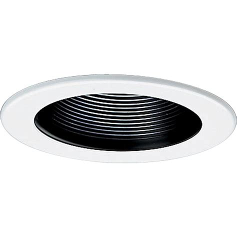 recessed lighting trim halo all pro 4 in white recessed lighting baffle trim