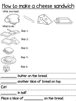 Sandwich Template For Writing Procedure Writing Template Differentiated How To Make