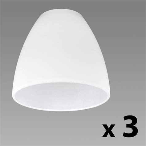 how to buy a replacement l shade set of 3 white glass replacement ceiling wall light