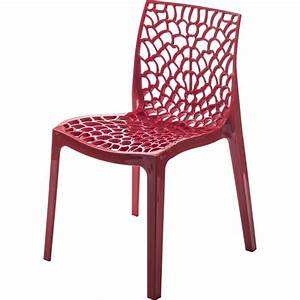 chaise de jardin en resine grafik rouge leroy merlin With table de jardin aluminium leroy merlin 6 chaise et fauteuil de jardin salon de jardin table et