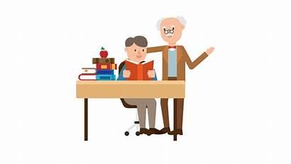 Cartoon Student Professor Teaching Svg One2one Mudr