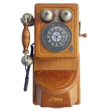 vintage home phone pyle prt45 retro antique country wall phone 3207