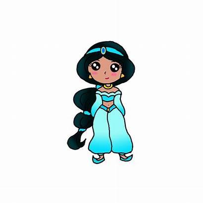 Jasmine Princess Draw Drawing Easy Step