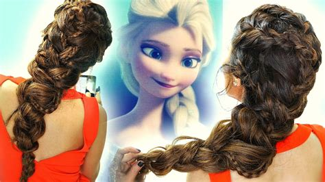 Frozen Elsa's Braids In Big Braid Hair Tutorial