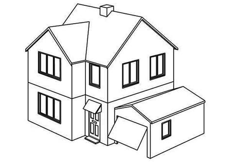 Coloring House by Opening Garage Houses Coloring Page Netart