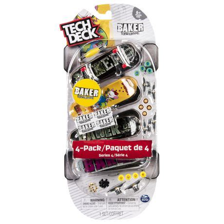 Tech Deck Rs Walmart Canada by Tech Deck 96mm Fingerboards 4 Pack Baker Walmart