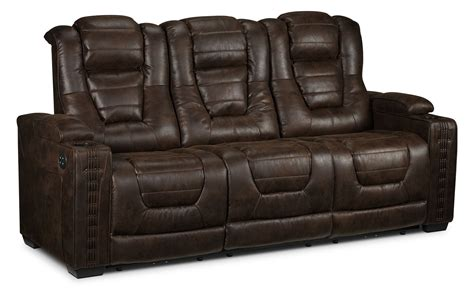 Loveseat Power Recliner by Dakota Power Reclining Loveseat Walnut S
