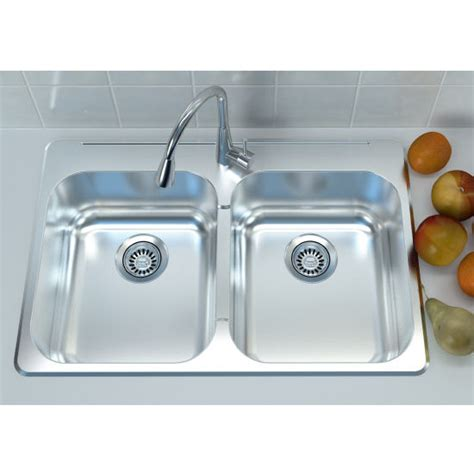 overmount sink kitchen cantrio koncepts stainless steel bowl overmount 1342