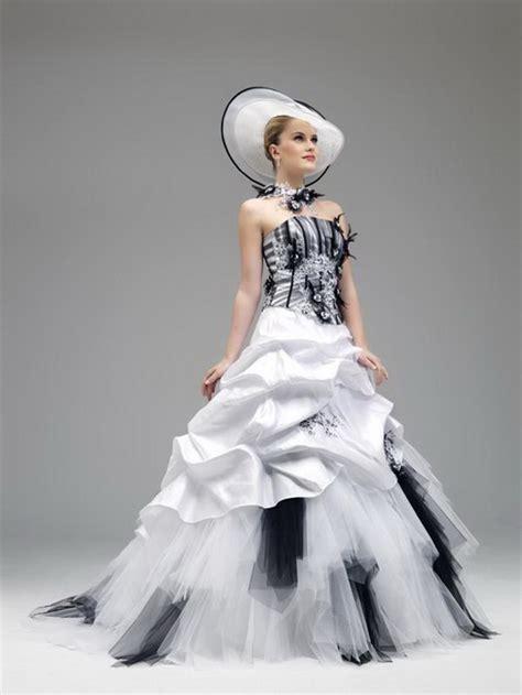 robe de mariage noir et blanche robe de mariage noir et blanc