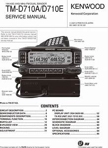 Tm D710a D710e K M4 E  Kenwood D710 Service Manual