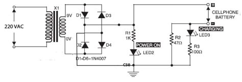 Phone Battery Charger Circuit Electronic Schematics