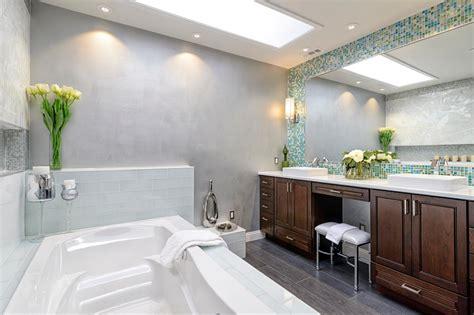 Spa Blue Bathroom by Gray Spa Bathroom With Blue Mosaic Tile Hgtv