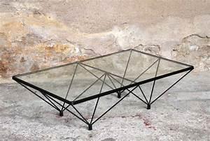 Table Basse Metal Verre : table basse verre et metal noir table basse de salon design en verre maison boncolac ~ Mglfilm.com Idées de Décoration