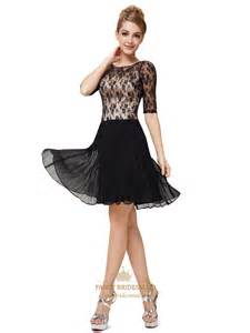 black and white cocktail dresses with sleeves for juniors