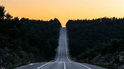Journey Road France Background Sunset Widescreen