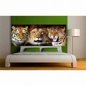 Tete Animaux Deco : stickers t te de lit d co animaux sauvages 9119 stickers ~ Teatrodelosmanantiales.com Idées de Décoration