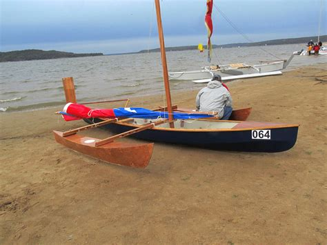 Skiff Vs Canoe by Outriggers On Canoes And Sailboat Proas Trimarans Even