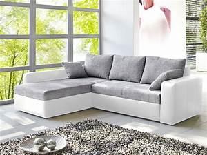 Schlafsofa Grau Mit Bettkasten : ecksofa vida 244x174cm grau weiss schlafsofa sofa couch polsterecke wohnbereiche wohnzimmer ~ Bigdaddyawards.com Haus und Dekorationen