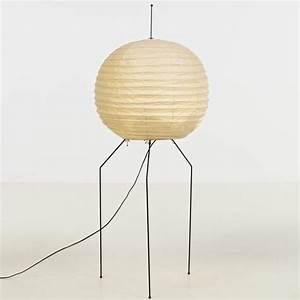 isamu noguchi metal washi paper and bamboo 39akari39 floor With noguchi paper floor lamp